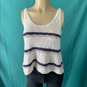 AMERICAN EAGLE STRIPED KNITTED TANK TOP 🌸